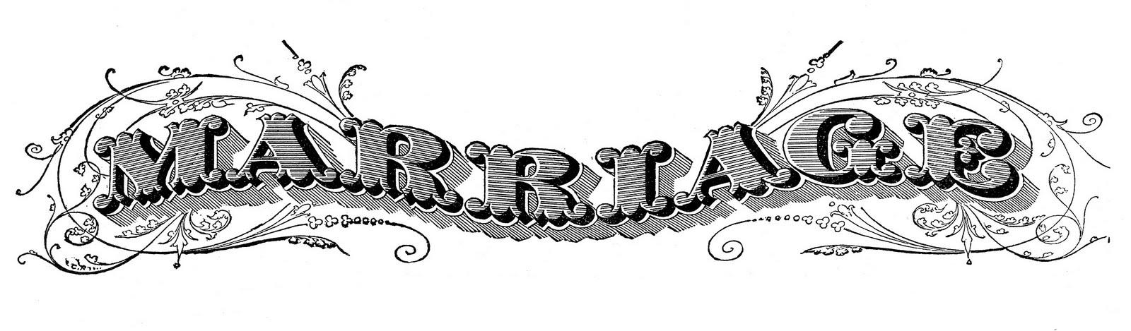 Antique Ephemera Clip Art - Printable Marriage Certificate - The ... graphic transparent library