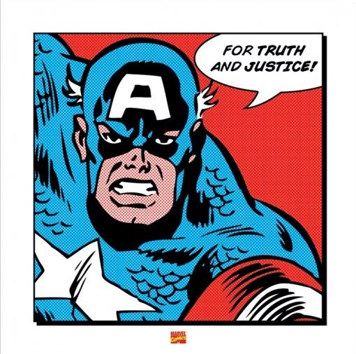 Clipart marvel comics picture royalty free library Marvel Comics - Captain America Truth Justice Print Art Poster ... picture royalty free library