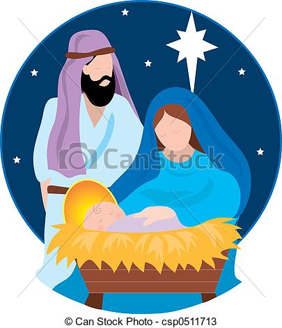 Clipart mary and baby jesus jpg stock Drawings of Nativity Scene with Mary,Joseph and the Baby Jesus ... jpg stock