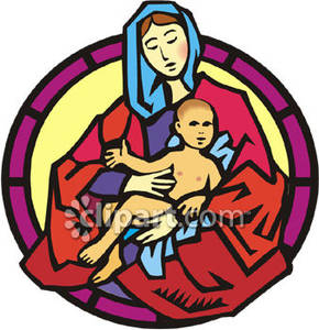 Clipart mary and baby jesus vector Mary And Baby Jesus Clipart - Clipart Kid vector