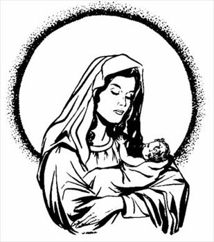 Clipart mary and baby jesus svg freeuse stock Free Mary-and-Baby-Jesus Clipart - Free Clipart Graphics, Images ... svg freeuse stock