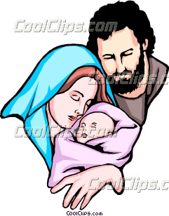Clipart mary and jesus vector stock Jesus, Mary and Joseph Clip Art vector stock