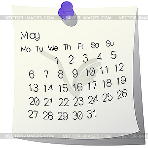 Clipart may calendar graphic black and white 2013 Calendar Clipart - Clipart Kid graphic black and white