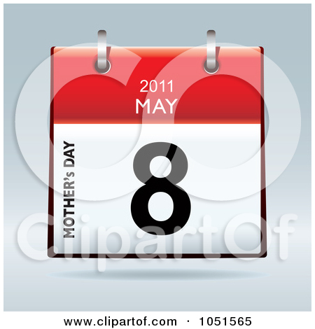 Clipart may calendar image royalty free download Royalty-Free (RF) Clip Art Illustration of a 3d Mothers Day April ... image royalty free download