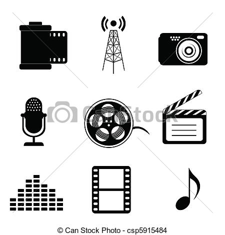 Clipart media svg black and white Media clip art - ClipartFest svg black and white