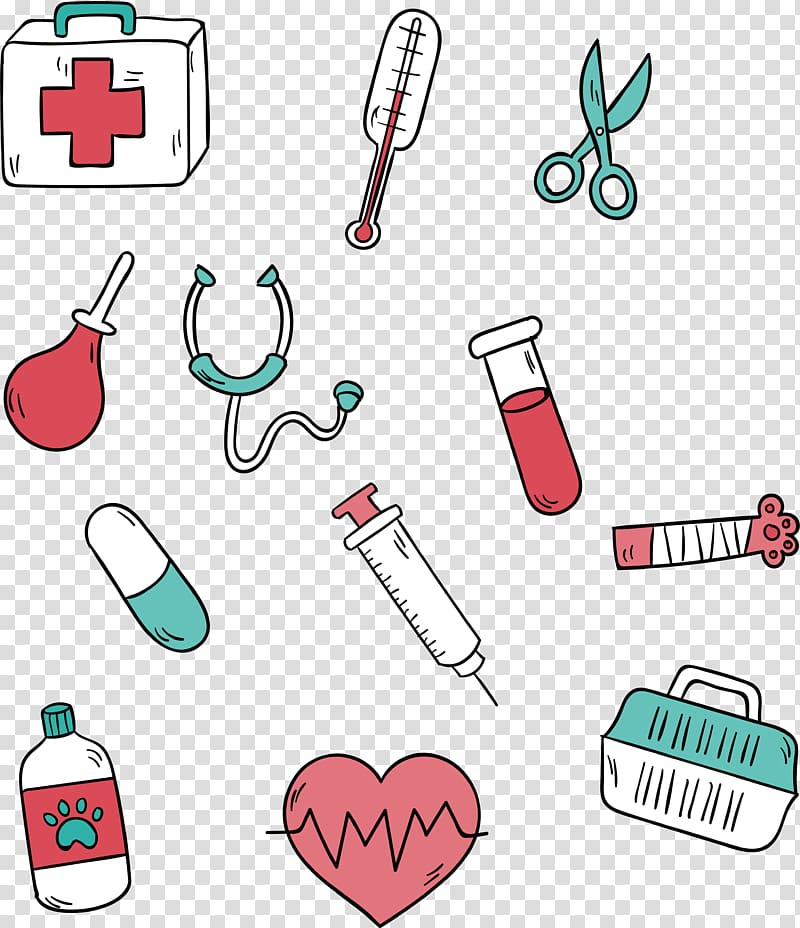 Clipart medical devices graphic transparent download Assorted medical tools illustration, Dog Syringe Physician Euclidean ... graphic transparent download