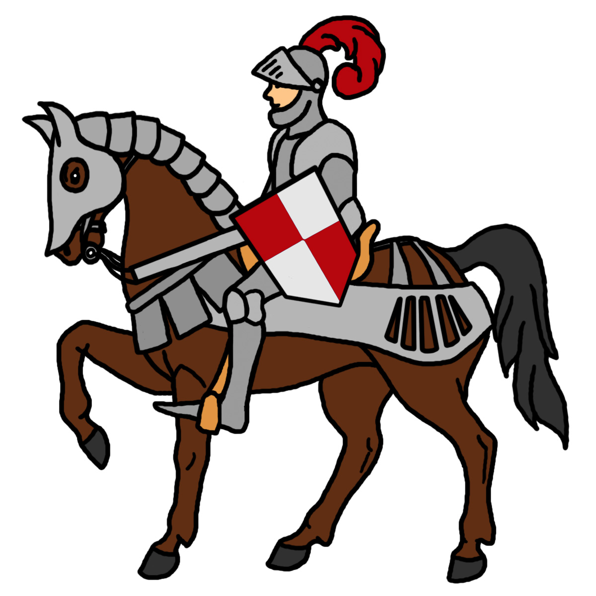 Knights of the round table clipart