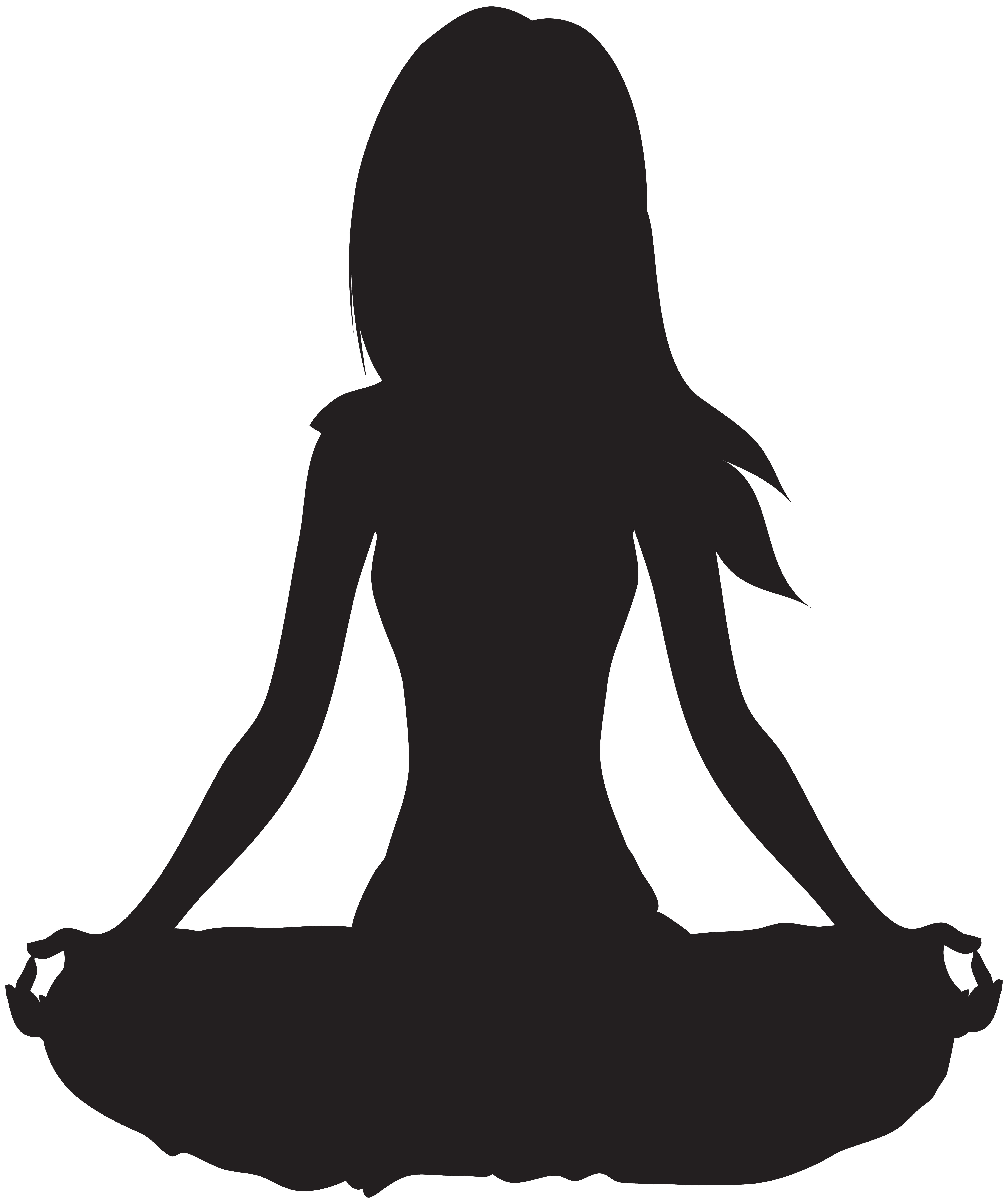 Clipart meditate clip library library Meditate Silhouette PNG Clip Art   Gallery Yopriceville - High ... clip library library