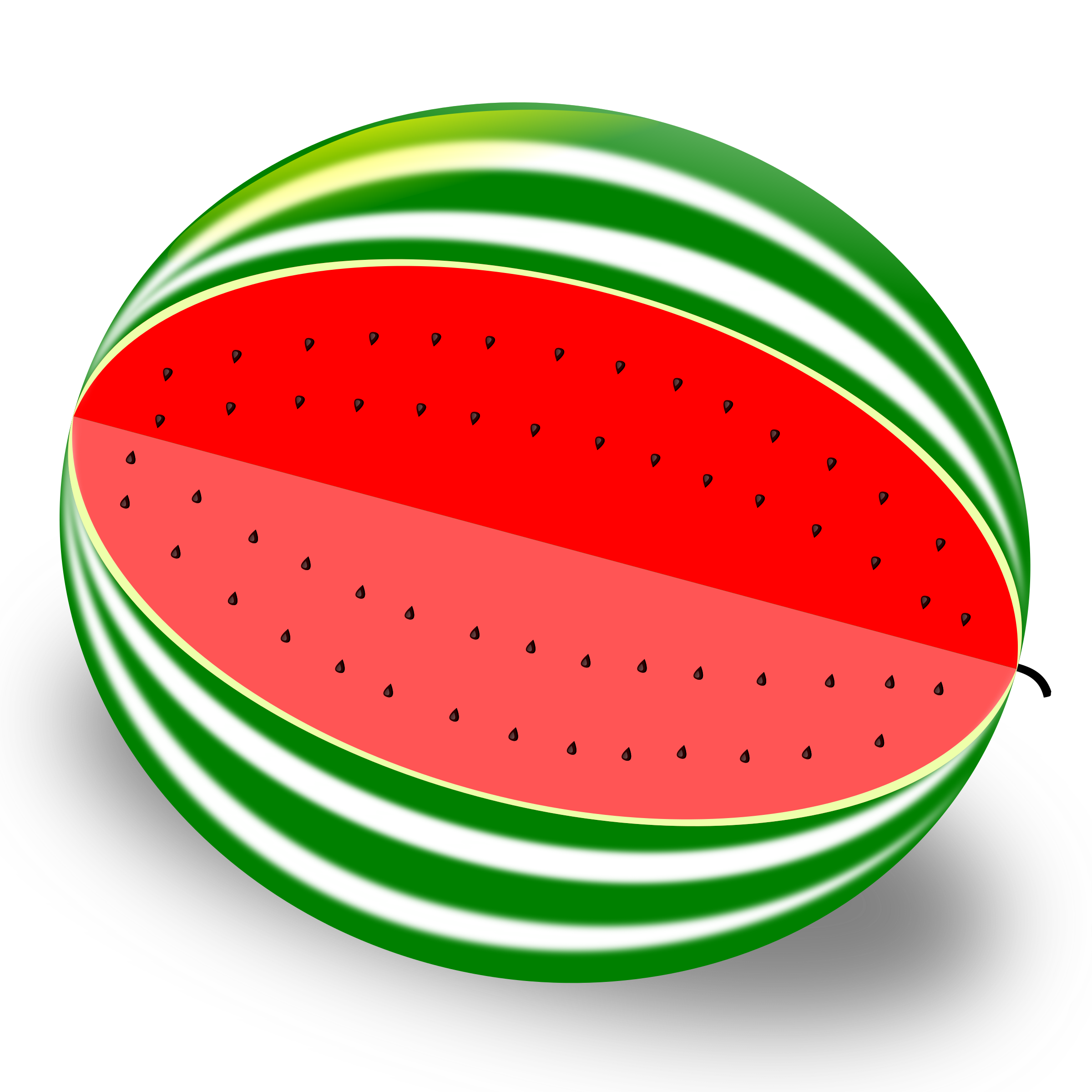Clipart melone svg free Watermelon Vector clipart image - Free stock photo - Public Domain ... svg free