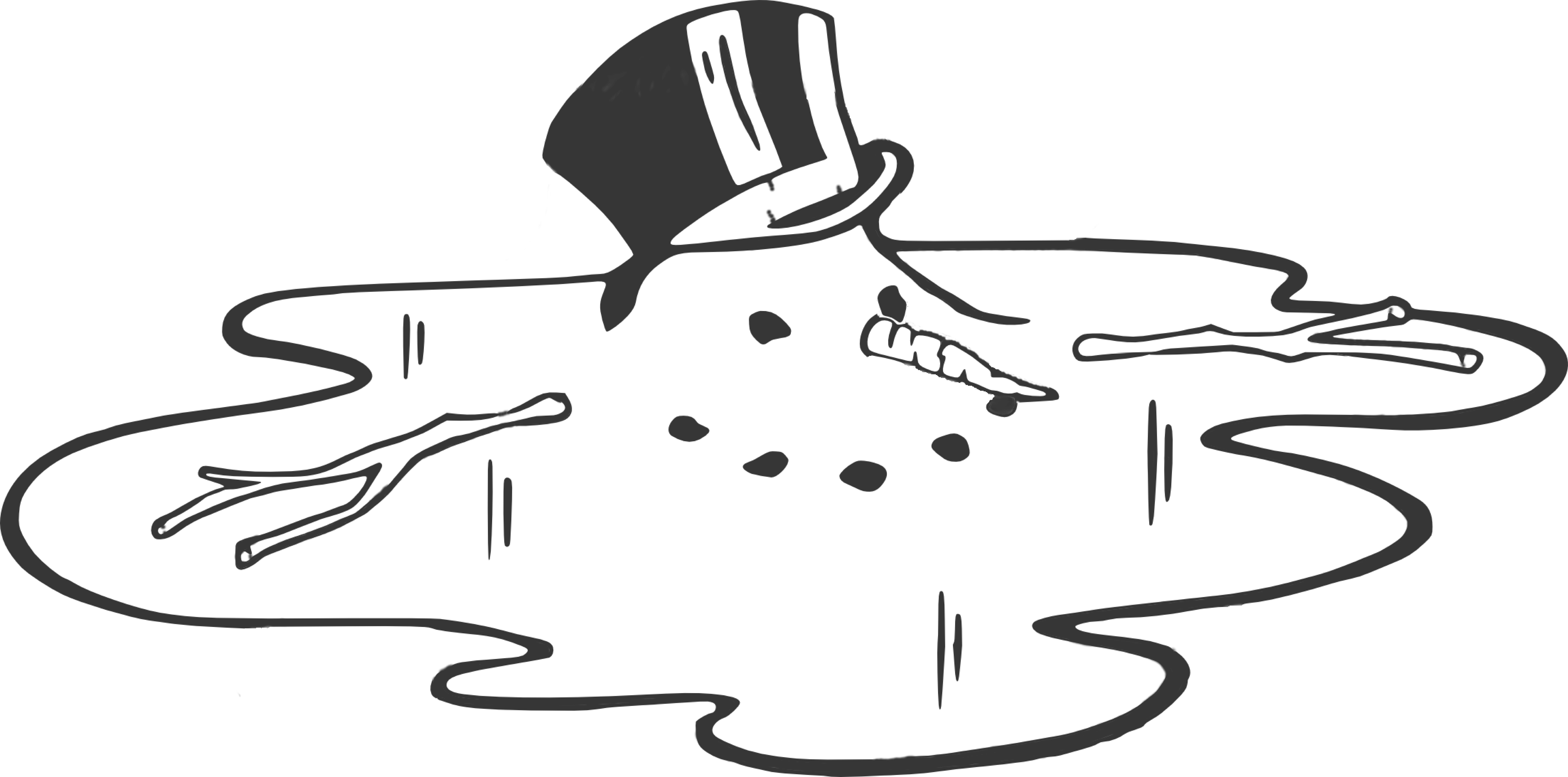 Snowman black and white melting snowman clipart black and white ... graphic stock