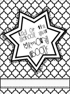 Clipart memory book preschool month black and white