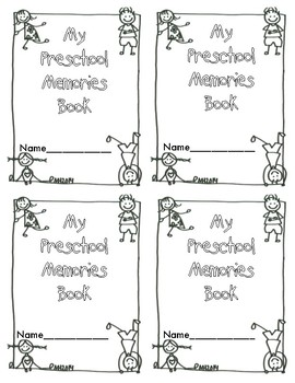 Clipart memory book preschool monthly black and white picture freeuse stock Preschool Memory Book Worksheets & Teaching Resources | TpT picture freeuse stock