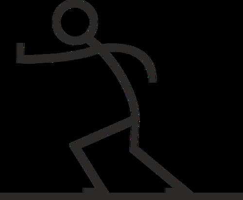 Clipart mendorong graphic stock Stick figure pushing | Public domain vectors graphic stock