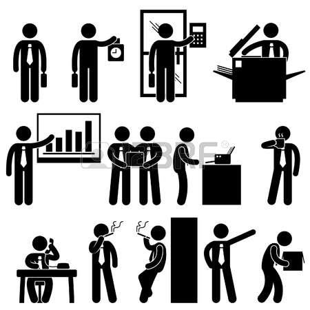 Clipart menschen bei der arbeit clip transparent download Büro Menschen Lizenzfreie Vektorgrafiken Kaufen: 123RF clip transparent download