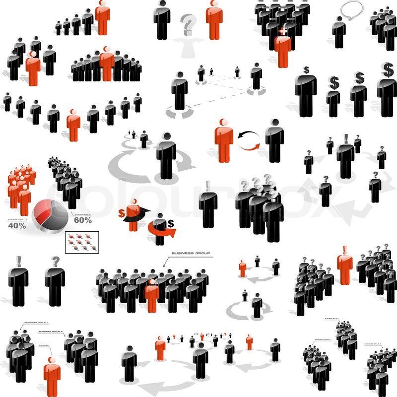 Clipart menschen bei der arbeit clip art royalty free stock Menschen, personen, mannschaft | Vektorgrafik | Colourbox clip art royalty free stock