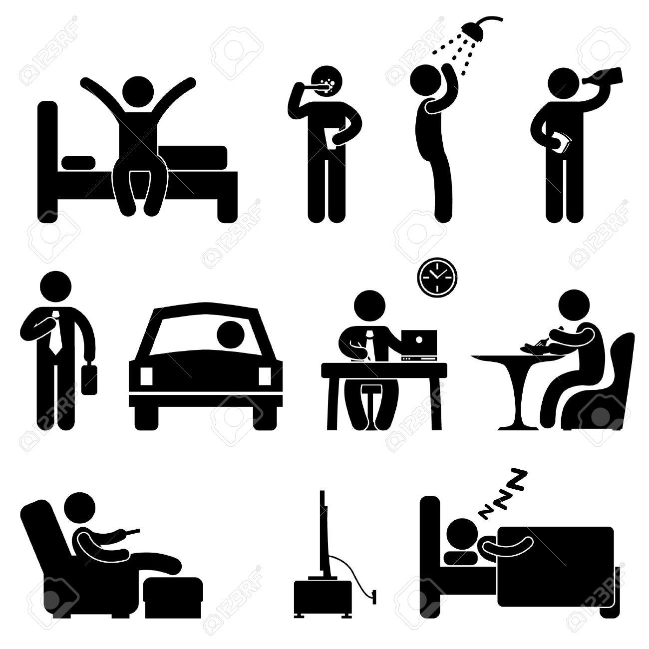 Clipart menschen bei der arbeit png Piktogramm Arbeit Lizenzfreie Vektorgrafiken Kaufen: 123RF png