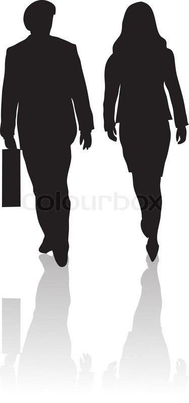 Clipart menschen bei der arbeit svg library Bild, silhouette, eleganz | Vektorgrafik | Colourbox svg library