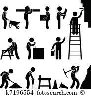 Clipart menschen bei der arbeit jpg black and white library Arbeit Clipart Illustrationen. 277.677 arbeit Clip Art Vektor EPS ... jpg black and white library