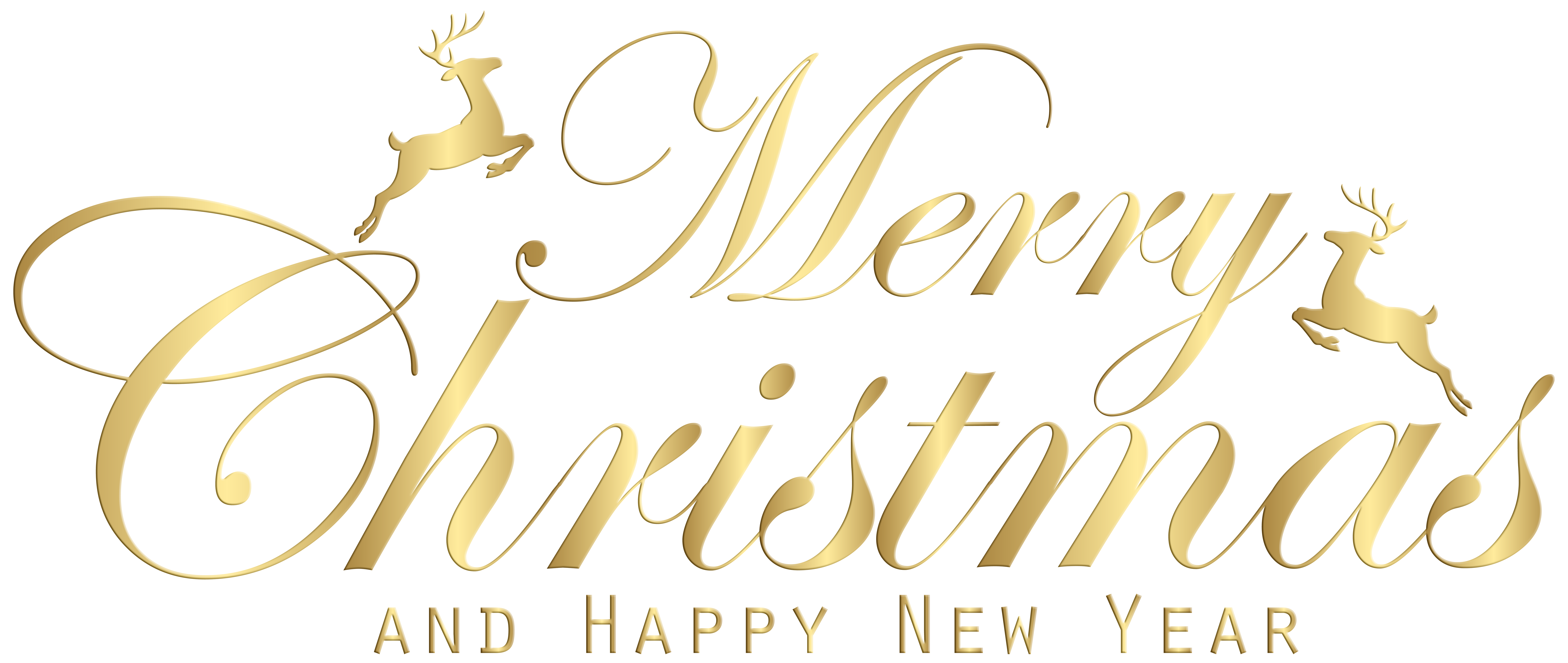 Merry christmas and happy new year clipart free banner freeuse Merry Christmas Gold Transparent Clip Art Image | Gallery ... banner freeuse