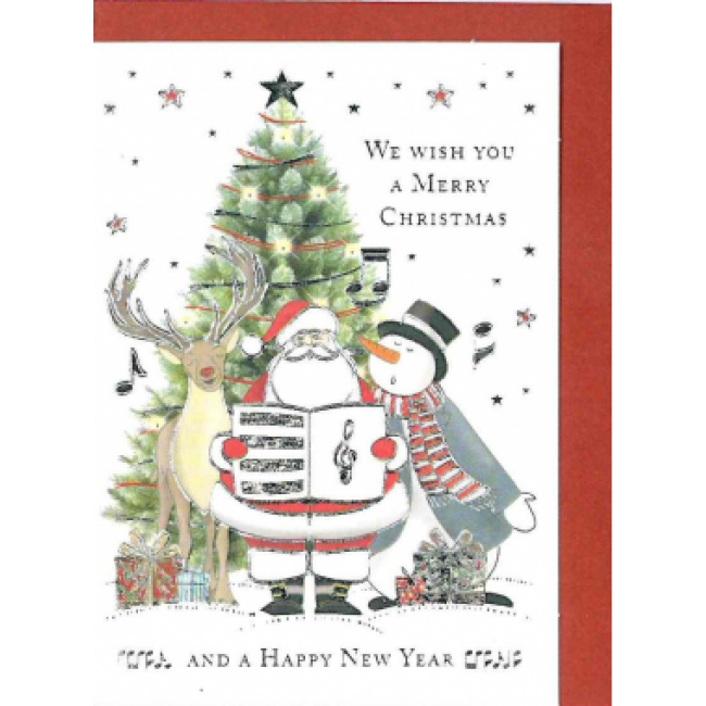 Clipart merry christmas and happy new year jpg transparent library Gift Card - We Wish you a Merry Christmas and A Happy New Year jpg transparent library