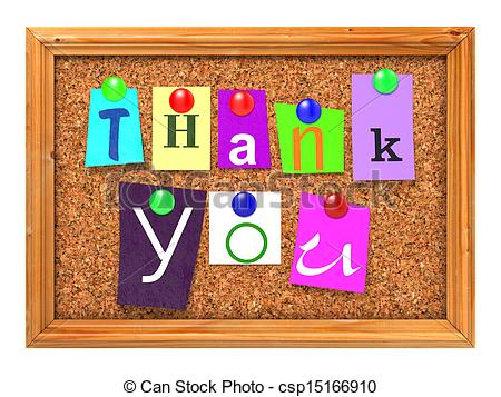 Clipart message board royalty free Clipart of Cork Bulletin or Message Board. - Thank You Concept ... royalty free