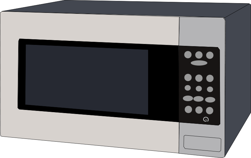Clipart microwave oven picture black and white Free Clipart: Microwave oven | Machovka picture black and white