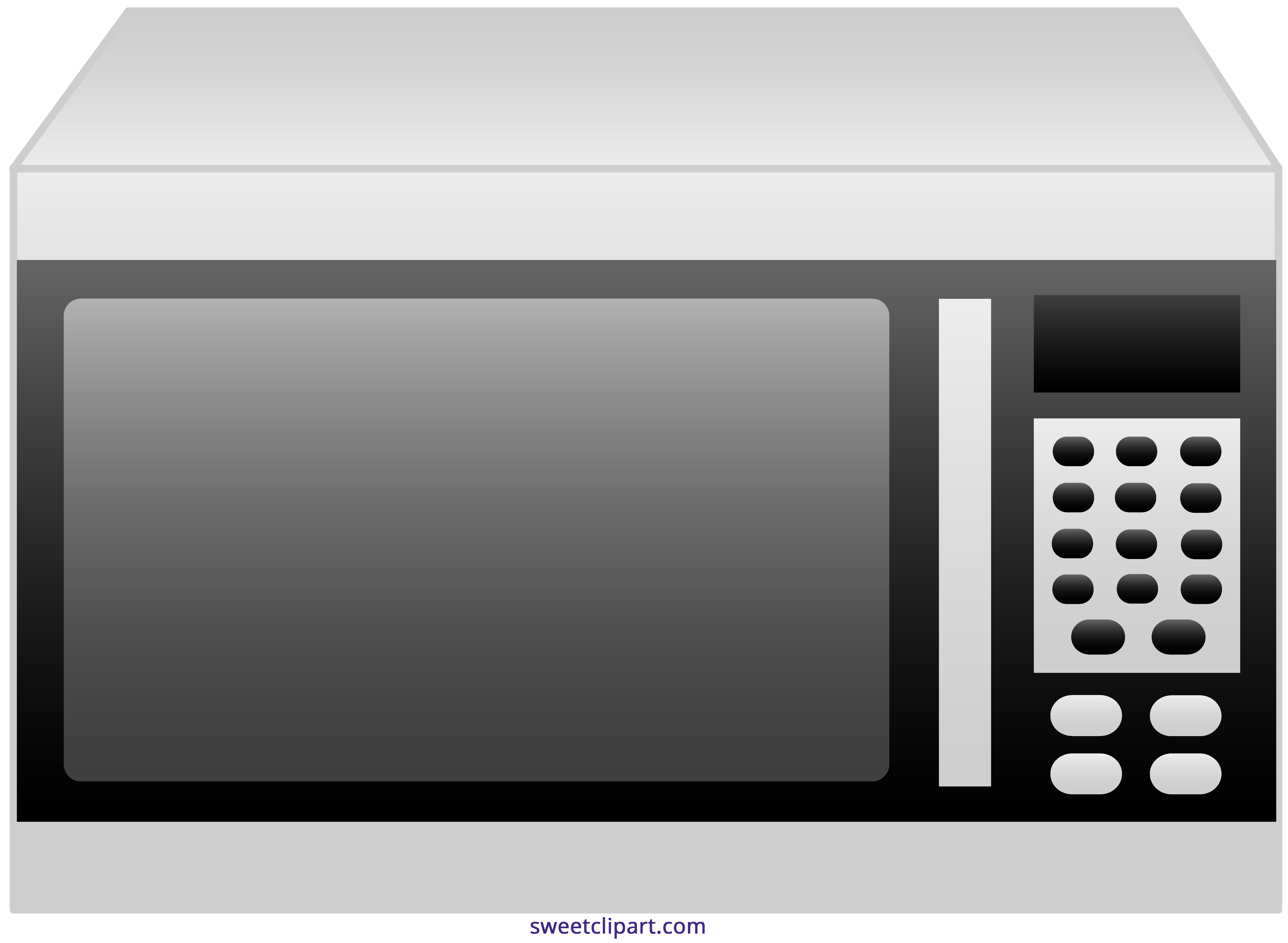 Clipart microwave oven png black and white download Microwave Oven Clipart - Sweet Clip Art png black and white download