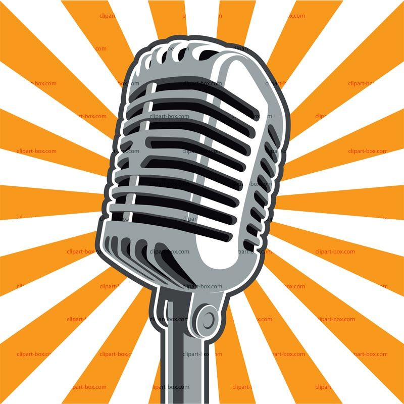 Clipart mics banner black and white library Radio microphone clip art free clipart images | new $chool in 2019 ... banner black and white library