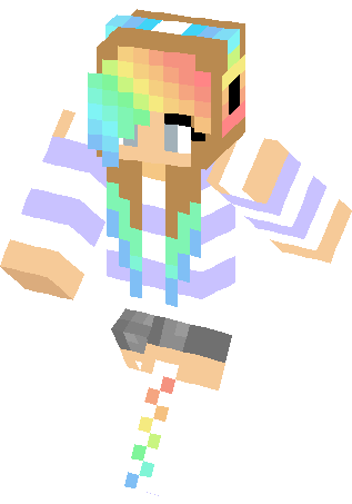 Clipart minercraft girl rainbow skin with cat ear freeuse download Girl Minecraft Skins Images | Minecraft Cu #310286 - Clipartimage.com freeuse download