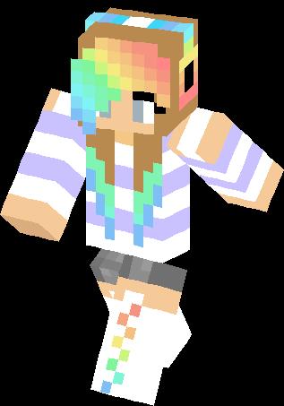 Clipart minecraft leopard girl with rainbow hair skins clip transparent Girl Minecraft Skins Images | Minecraft Cu #310286 - Clipartimage.com clip transparent