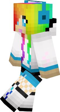 Clipart minecraft leopard girl with rainbow hair skins clip freeuse download Girl Minecraft Skins Images | Minecraft Cu #310286 - Clipartimage.com clip freeuse download