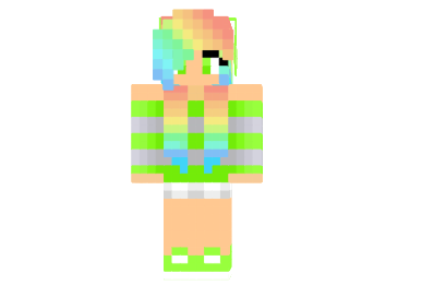 Clipart minecraft leopard girl with rainbow hair skins stock Girl Minecraft Skins Images | Minecraft Cu #310286 - Clipartimage.com stock