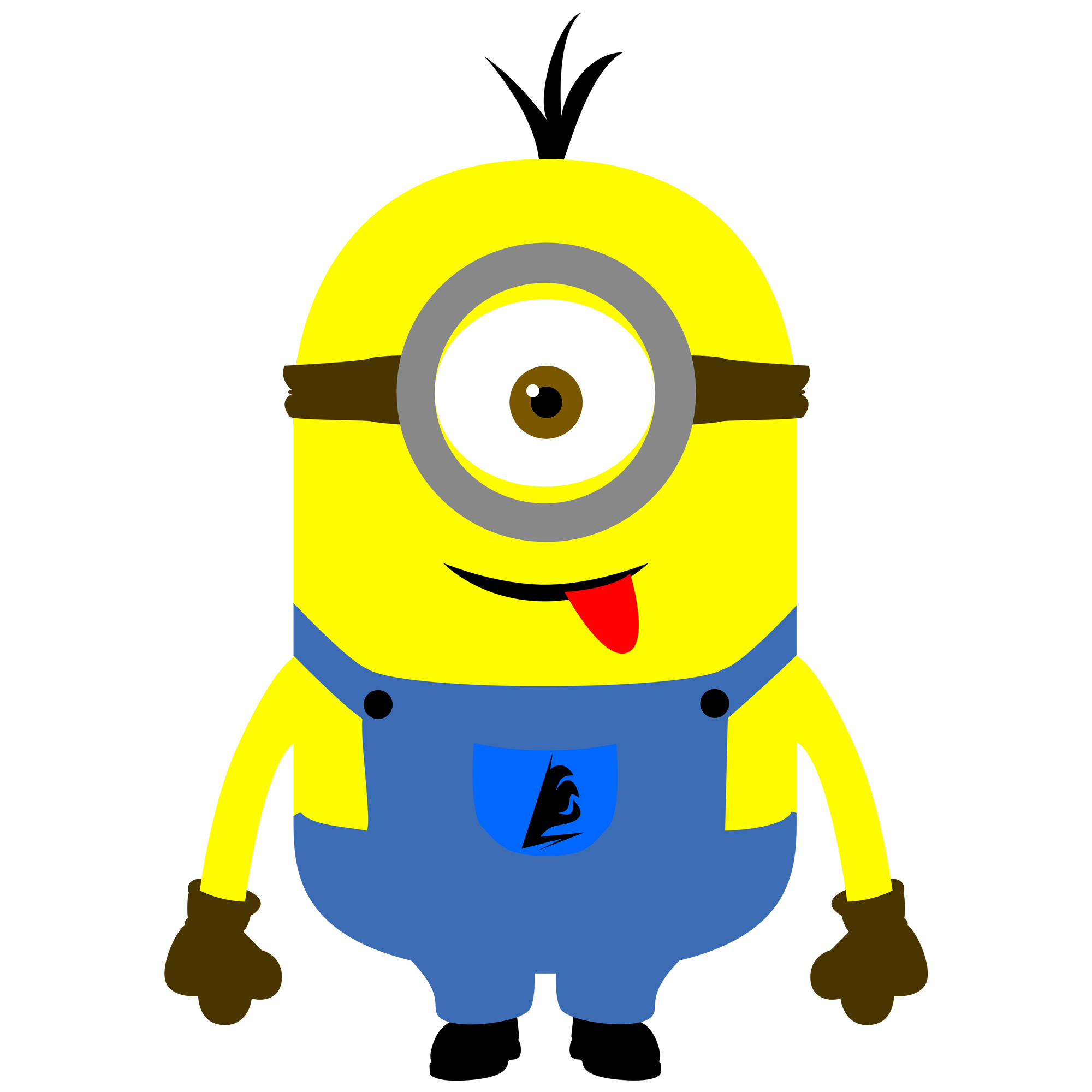 Minion single hand cutout clipart vector royalty free stock Free Free Minion Cliparts, Download Free Clip Art, Free Clip Art on ... vector royalty free stock
