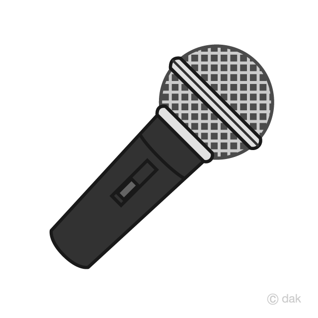 Clipart mircophone clipart black and white library Black Microphone Clipart Free Picture|Illustoon clipart black and white library