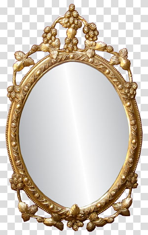 Clipart mirror effect jpg download Oval mirror with brown frame, Mirror Reflection, Mirror transparent ... jpg download