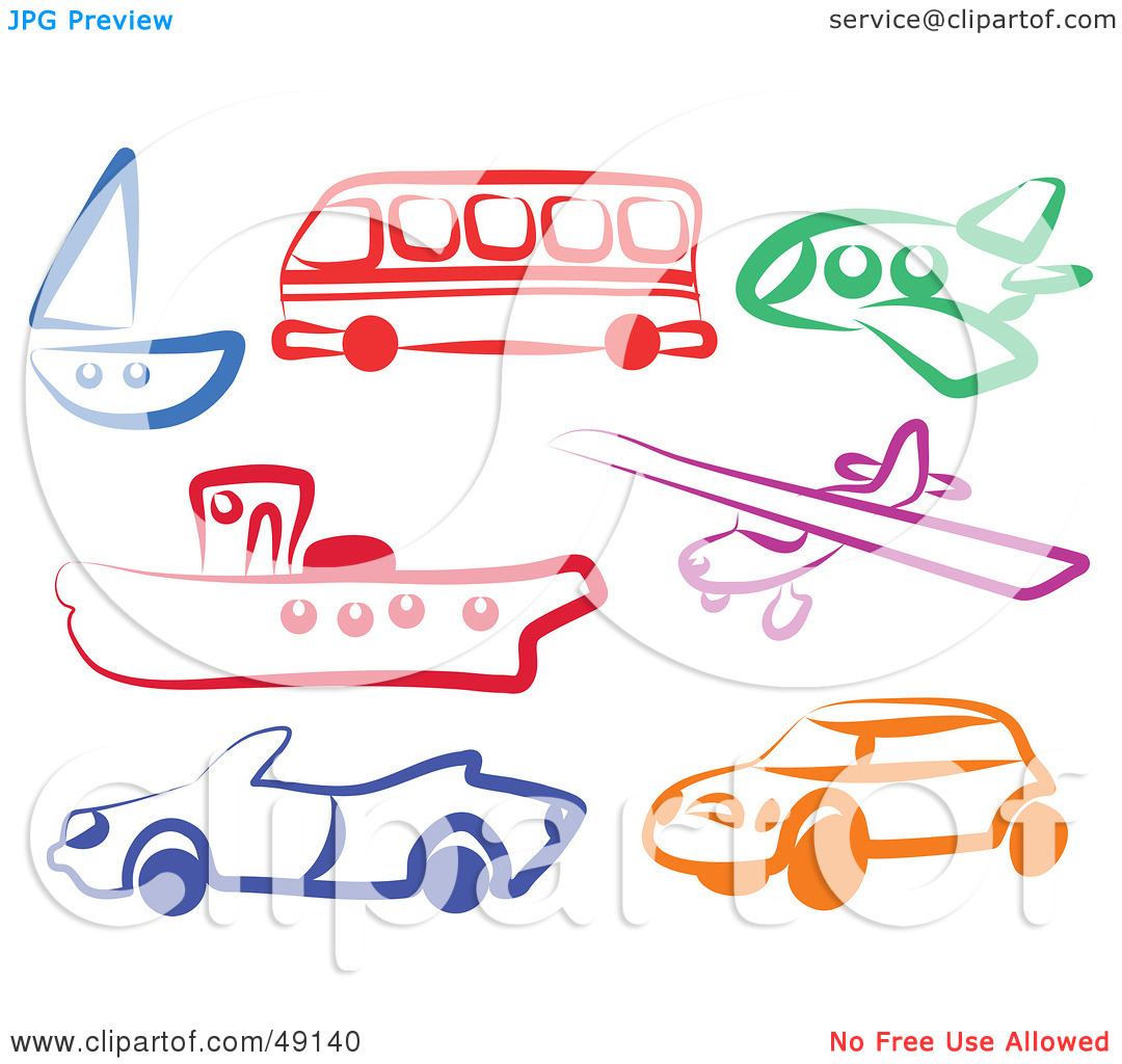 Clipart mode gratuit jpg library stock Mode of transport clipart - ClipartFest jpg library stock