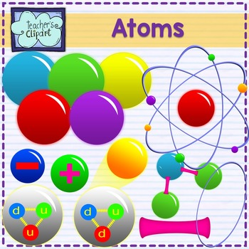 Clipart molecules vector royalty free library Atoms and Molecules clipart {Science clipart} vector royalty free library