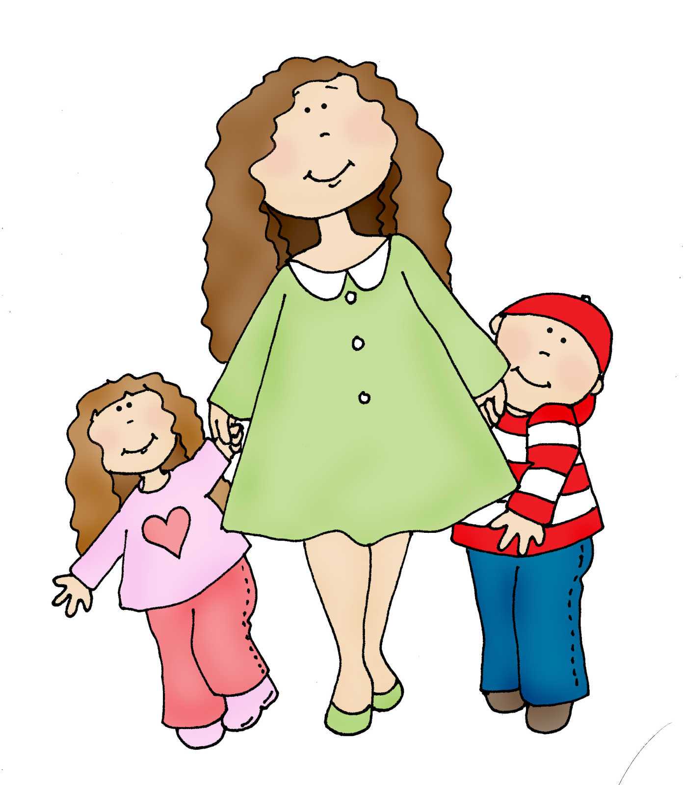 Clipart mom with kids vector royalty free download Clipart mom and kids - ClipartFest vector royalty free download