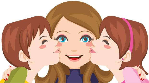 Clipart mom with kids transparent Clipart mom and kids - ClipartFest transparent
