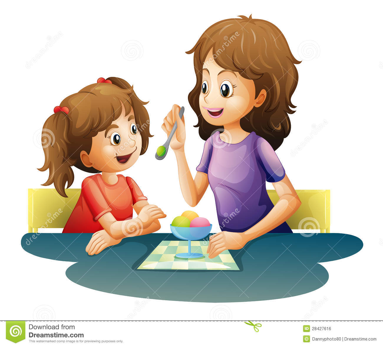 Clipart mom with kids png freeuse library Mom And Kid Royalty Free Stock Image - Image: 28427616 png freeuse library