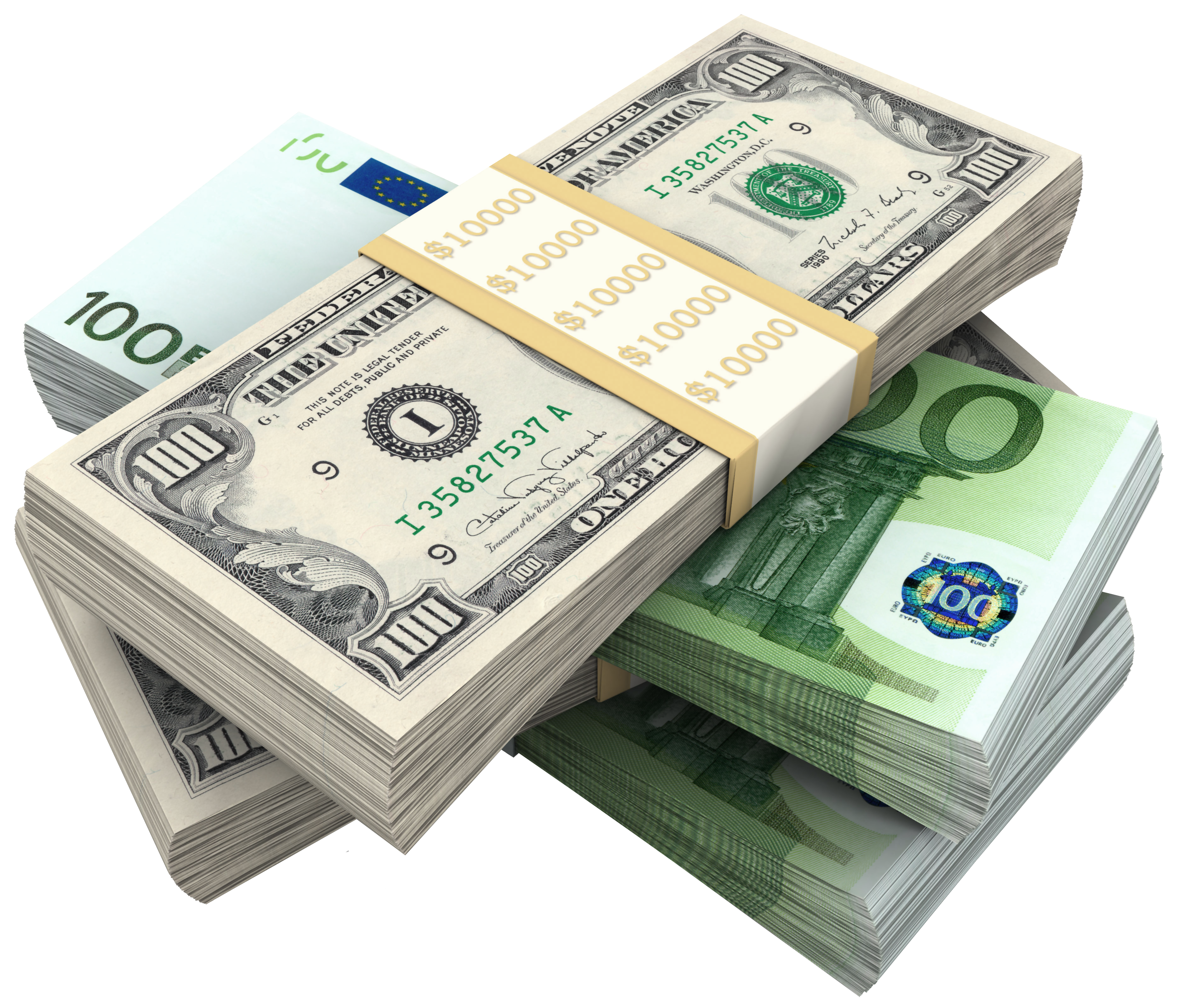 Clipart money bill jpg freeuse download Money Icon - Bundles Of Dollars and Euro PNG Clipart Picture 3748 ... jpg freeuse download