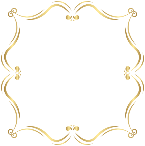 Clipart star filigree png free library Gold Border PNG Clip Art Image | ClipArt | Pinterest | Clip art ... png free library