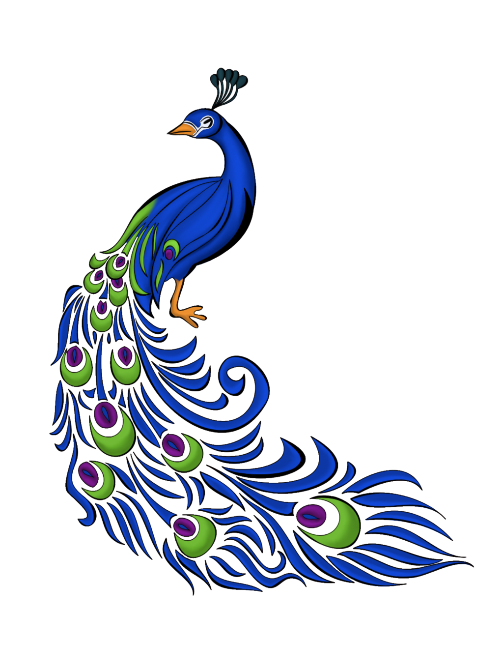 Clipart money drawn from paint graphic free Peacock Feather Vector Free Graphics And Art - JoBSPapa. | Awesome ... graphic free