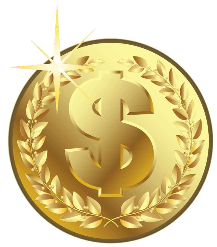Clipart money gold vector library stock Gold Coin PNG Picture | Gallery Yopriceville - High-Quality Images ... vector library stock
