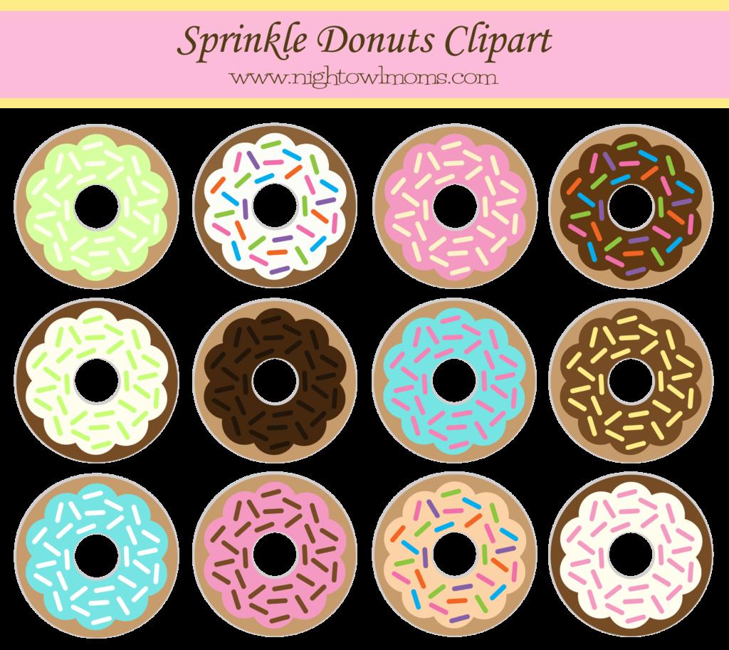 Clipart money shower clip art transparent download Free Sprinkle Donut Clipart | Pinterest | Sprinkle donut, Night owl ... clip art transparent download