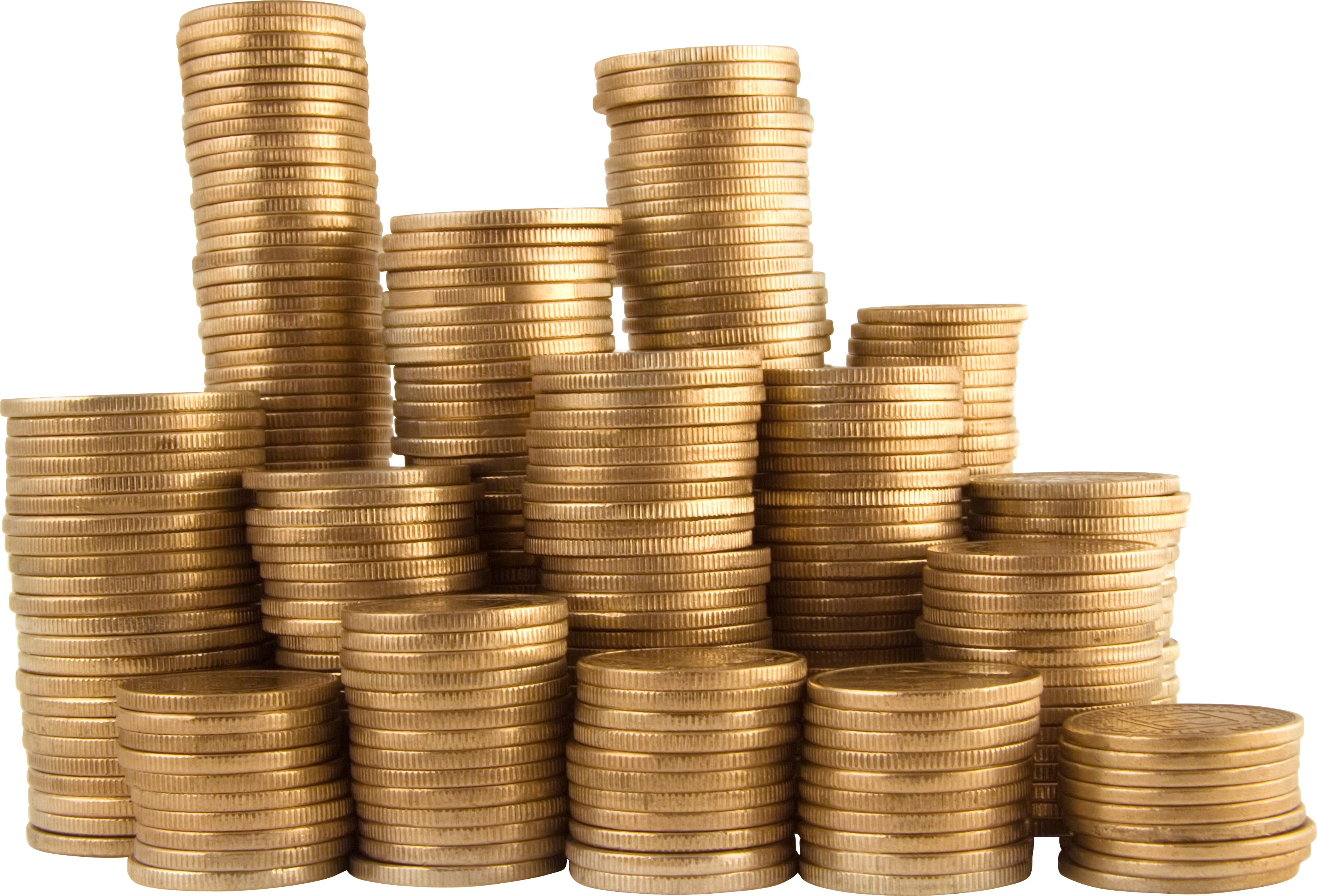 Clipart money stack no background picture black and white library Stack of Money Coins | Isolated Stock Photo by noBACKS.com picture black and white library
