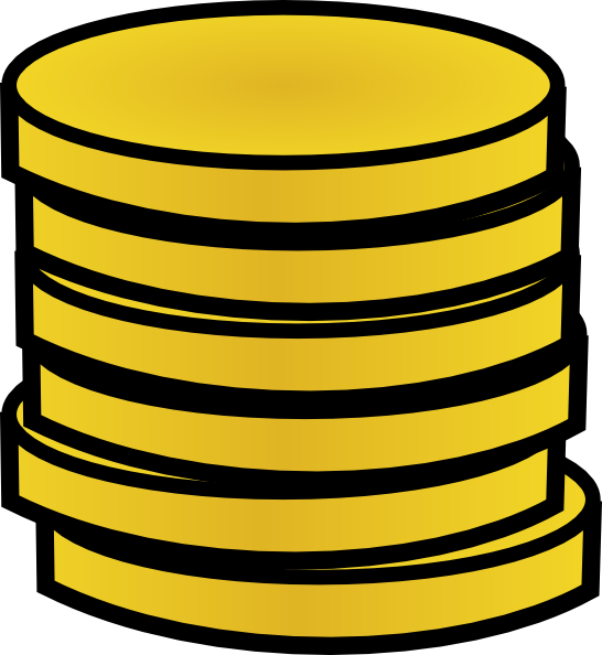 Money coin clipart white picture royalty free download Gold Coins In A Stack Clip Art at Clker.com - vector clip art online ... picture royalty free download