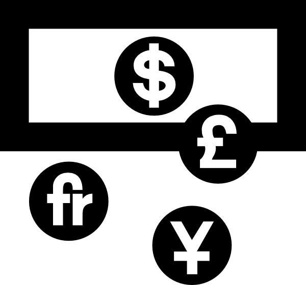 Clipart money symbols black white image library download Currency Exchange Symbol Clip Art at Clker.com - vector clip art ... image library download