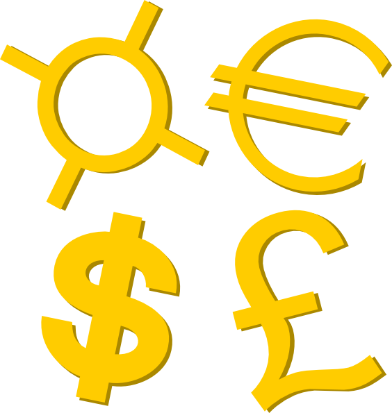 Money symbol clipart png graphic royalty free library Gold Currency Symbols Clip Art at Clker.com - vector clip art online ... graphic royalty free library