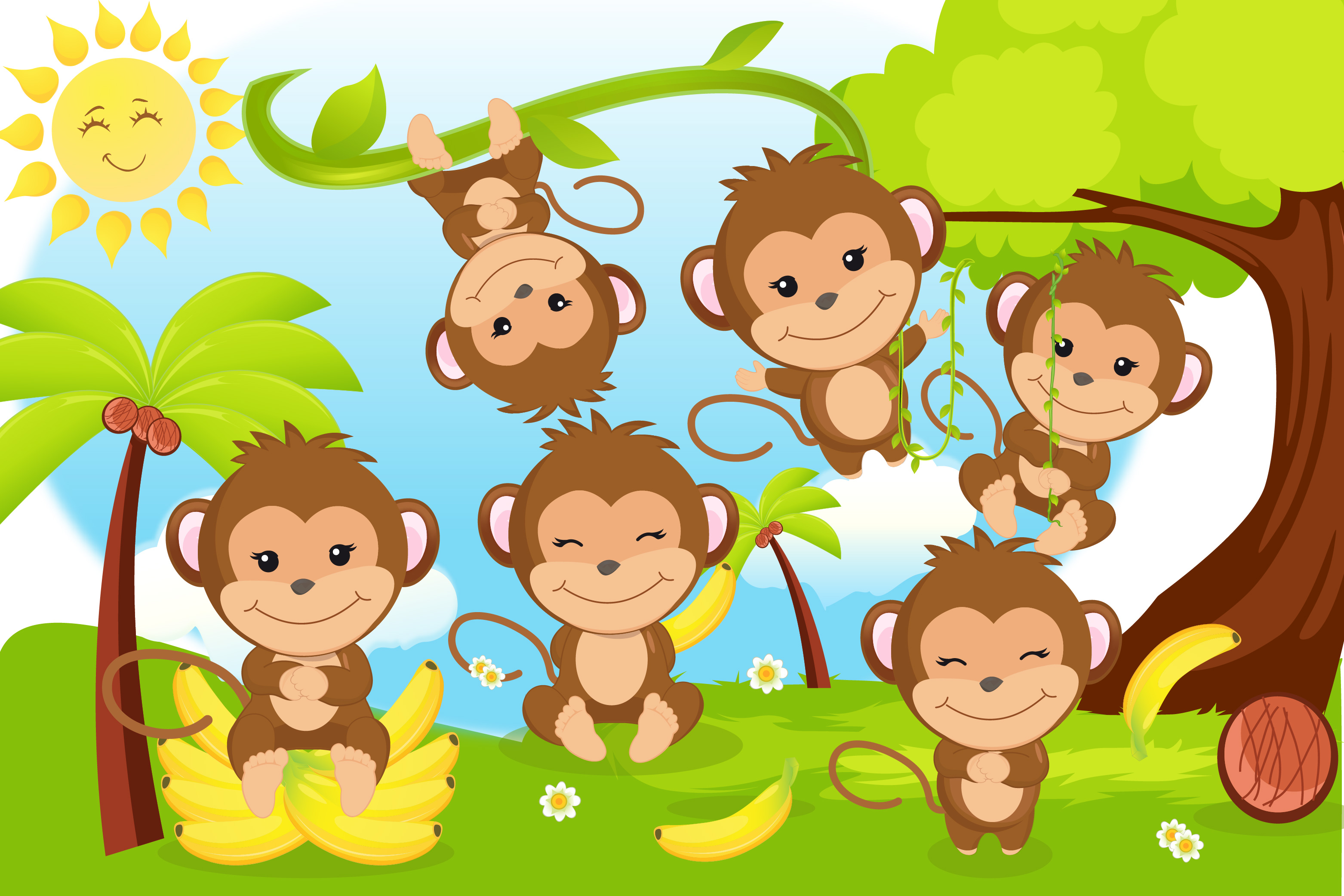 Monkey clipart svg transparent download Monkey clipart, Monkey boy illustrations svg transparent download